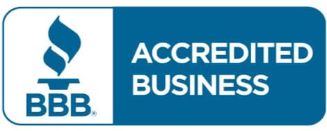 Blue and White Better Business Bureau Accredited Business Logo
