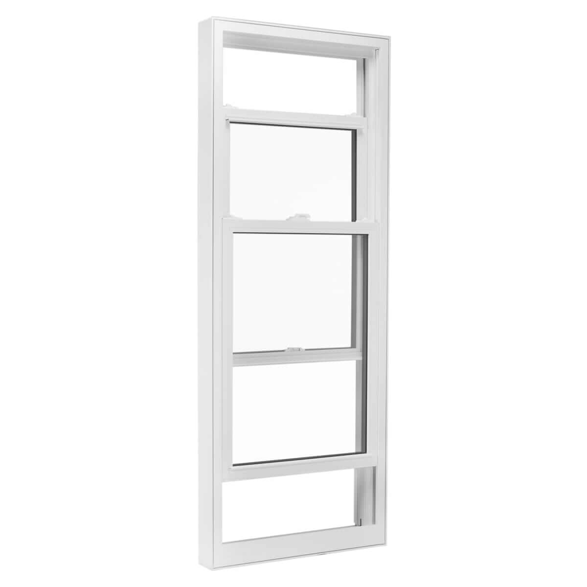 Double Hung Window on White Background