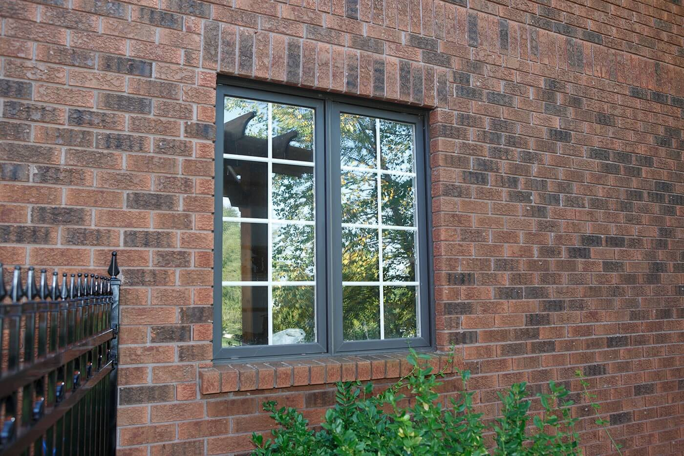 Custom Made Fixed Picture Window on Red Brick Window