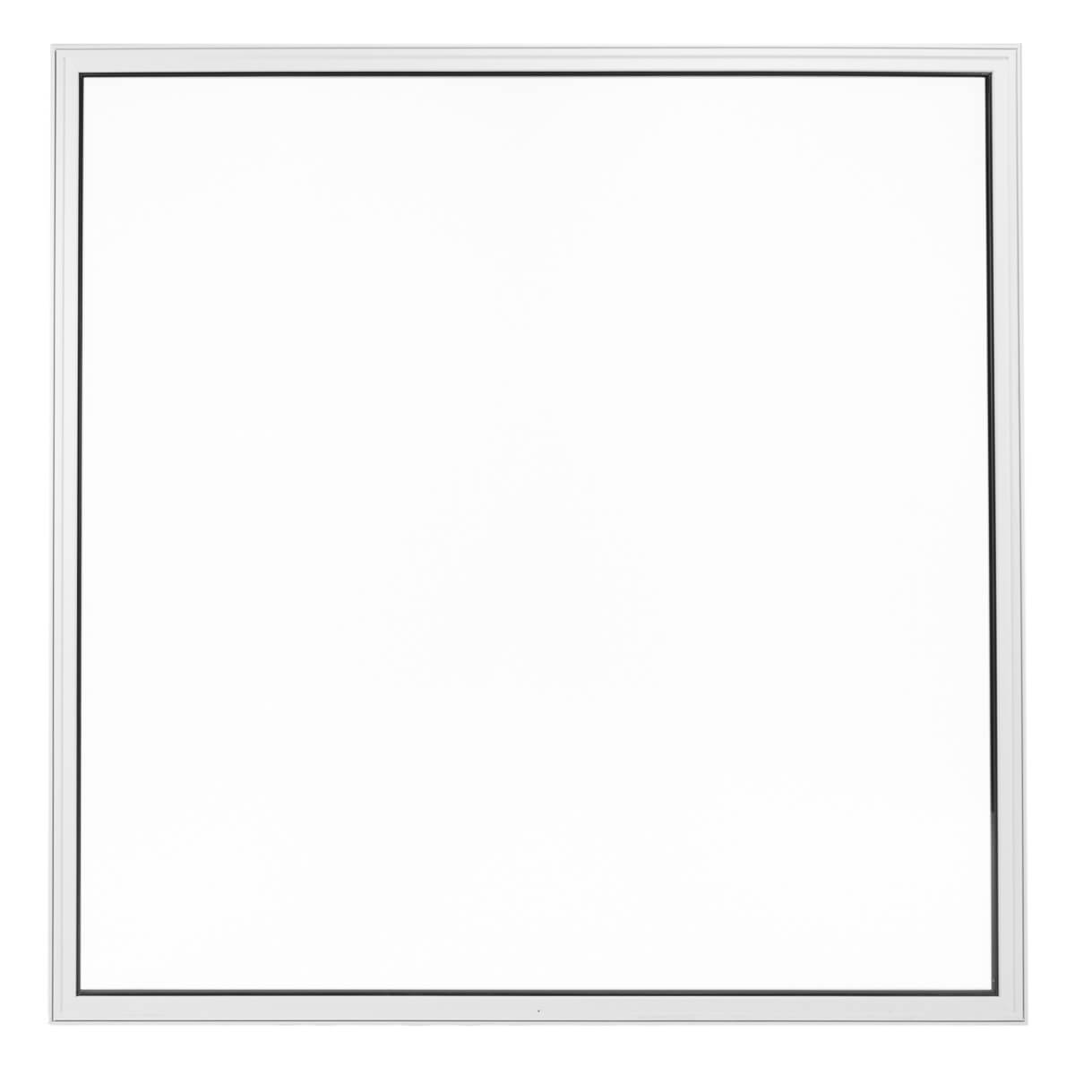 Custom Made Large Squared Fixed Picture Window on a White Background