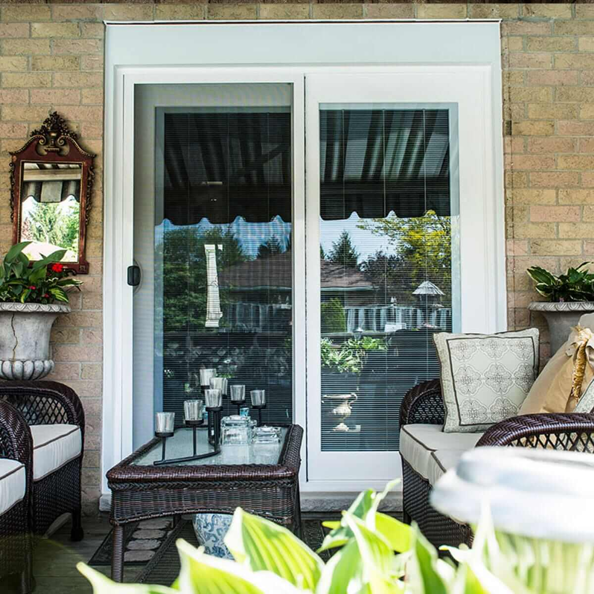 Sliding Glass Patio Doors With White Trim & Fibreglass Door Systems - See Our Stain Selection | Centennial pezcame.com